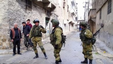 Photo of قوات روسية تدخل لأول مرة مدينة الرقة السورية