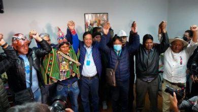 """Photo of حزب""""الحركة نحو الإشتراكية"""" في بوليفيا يفوز بالأغلبية في الإنتخابات البرلمانية والرئاسية """