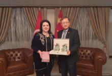 Photo of بدرة قعلول تلتقي سفير الصين بتونس
