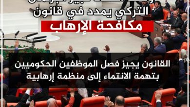 "Photo of وسط انتقاد كبير البرلمان التركي يمدد في قانون ""مكافحة الإرهاب"""