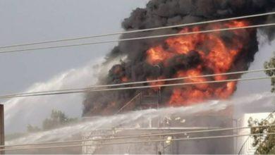 Photo of حريق ضخم في منشأة نفطية جنوبي لبنان